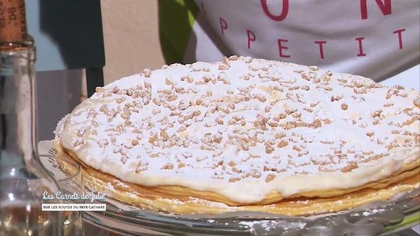 La fameuse tarte aux pignons spécialité de Gruissan